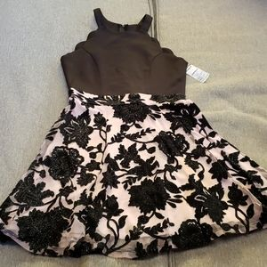 Trixxie black and pink dress